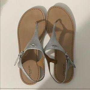 Coach sandals silver